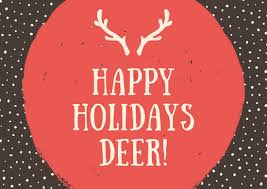 Brown Deer Christmas Card Templates By Canva