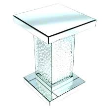 glass bedside table. Mirrored Glass Bedside Table Coffee Small Side Black Tables Mirror