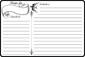 recipe template free template free printable full page recipe template bridal card
