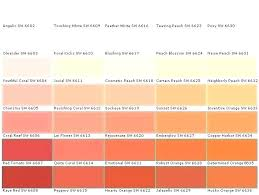 Shades Of Orange Color Chart Coral Paint Bay Coral Paint Coral Paint Ghana Kumasi Coral