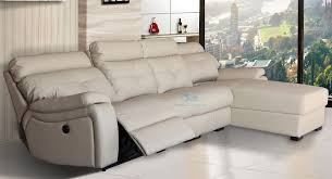 reclined orlando 4 seater with right sided chaise in latte leather