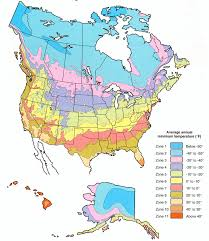 Plant Hardiness Zone Map For North America