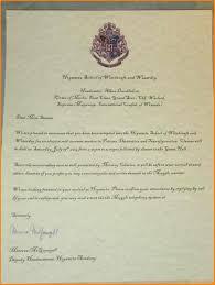 5 harry potter invitation to hogwarts