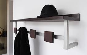 How To Mount A Coat Rack On The Wall shelf Modern Metal Wooden Wall Mounted Entryway Coat Rack With Hat 53