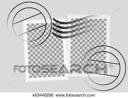 Stamps Template Postmarked Postage Stamps Template With Date Stamp Clip Art
