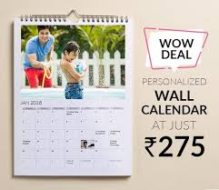 Custom Photo Calender Wow Deal Personalized Wall Calendar At Just Rs 275