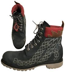 timberland leather special edition earthkeeper vibram men s blue multi boots image 0