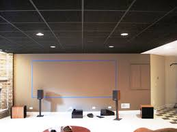 image of black acoustic ceiling tiles ideas