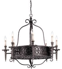savoy house tuscan iron 8 light chandelier in rustic bronze 1 1533 8