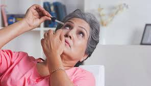 avoid dry eyes by using eye drops when needed