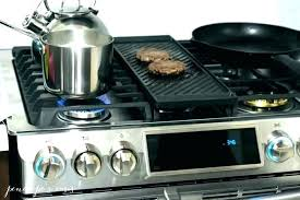 double oven gas range reviews flex duo dual door most reliable canada stove reviews gas
