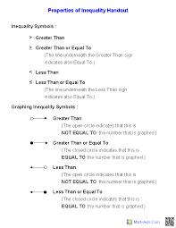 Pre-Algebra Worksheets | Inequalities Worksheets
