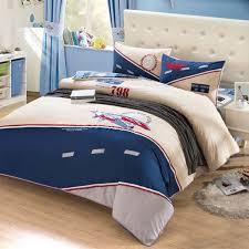 yoyomall original design cartoon airplane bedding set 100 sanded cotton duvet cover sets