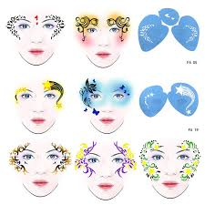 7pcs set reusable soft face paint stencil flower erfly diy design painting template for