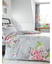 double duvet fl double duvet cover and pillowcase set grey and pink unicorn double duvet set