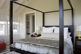 providence farmhouse canopy bed bedroom beach style with linen duvet ...