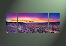 purple sunset wall art