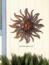 large metal sun wall decor rustic garden art indoor