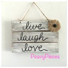 live laugh love sign items similar to live laugh love wedding decor shabby chic rustic love