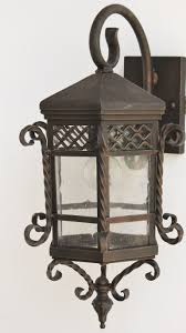 santa barbra style wrought iron outdoor wall light fixture lightbox moreview