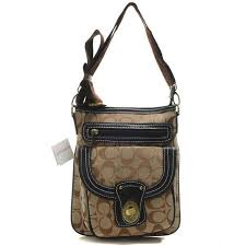 Coach Willis Lock In Signature Small Khaki Crossbody Bags BEK Sale Outlet  Clearance