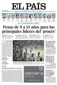 Portada de EL PAÍS del 15-10-2019