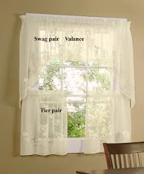sheer cafe curtain swag and valance zoom