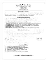 objective for medical billing resume medical billing supervisor resume  sample medical billing specialist resume objective