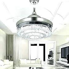 wonderful retractable ceiling fan light inspirational crystal with blades blade