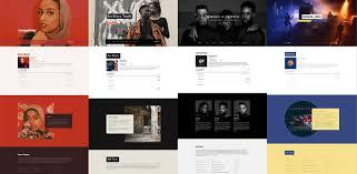 Marquee Website Design New Website Template Marquee Bandzoogle Blog