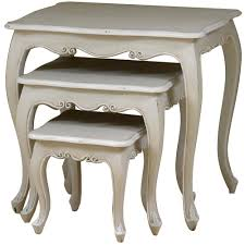 french distressed furniture. Lyon French Nest Of 3 Tables Distressed Furniture
