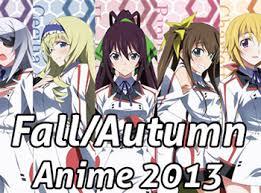 Fall Autumn Anime 2013 Chart V3 0 Neregate Otaku Tale