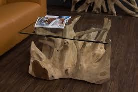 Dieses foto auf meiner seite einbinden. Baumwurzel Couchtisch Aus Suar Holz Mit Glasplatte Quadratisch Nr 18224