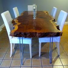 live edge redwood kitchen table