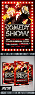 Comedy Show Flyer Template Comedy Show Flyer By MatteoGianfreda GraphicRiver 14