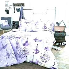 nicole miller paris bedding full twin theme tower duvet cover themed purple black and white memories