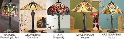 tiffany lamps main design styles examples