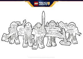 Hero Formation Coloring Pages Lego Nexo Knights Legocom Us