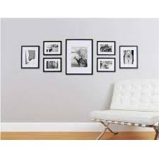 7 opening matted picture frame collage set