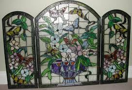 stained glass fire screen for elegant stained glass fireplace screen