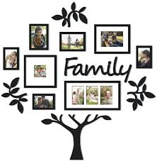Get it as soon as fri, apr 16. Amazon Com Wood Photo Frame Photo Frame Wall Mount Decor Wedding Family Tree Frame Collage With 8 Hanging Picture Frames Pictures Rustic Picture Frame Color Black Size One Size