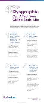 how dysgraphia affects kids social skills and self esteem graphic of 4 ways dysgraphia can affect your child s social life