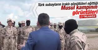 Türk askerinin Musul kampı VİDEO