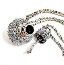 Gorgeous Vintage <b>925 Sterling Silver Perfume</b> Ball Pendant & 21 ...