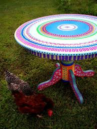 colorful painted furniture. colorful kitchen table hand painted made to order by lisafrick furniture s
