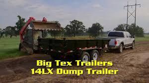 big tex trailers 14lx dump trailer in action big tex trailers 14lx dump trailer in action