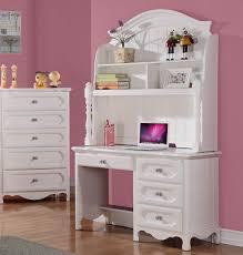 homelegance hayley 4 drawer kids desk w hutch in white