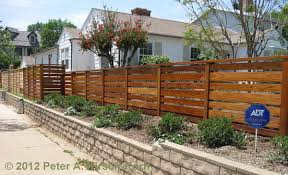 horizontal fence styles. Stylish Horizontal Wood Fence Design Los Angeles Fences Privacy Screening Beautiful Fencing Styles O