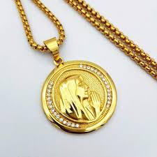 new catholic religious jewelry virgin mary pendants gold color snless