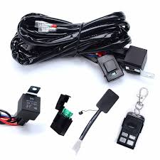 amazon com wiring harnesses electrical automotive kawell heavy duty led light bar wiring harness kit 14 awg wiring 40amp relay on